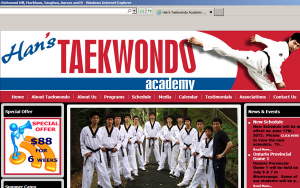 Han's Taekwondo Academy Logo