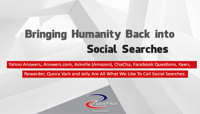 Bringing Humanity Back Into Searches